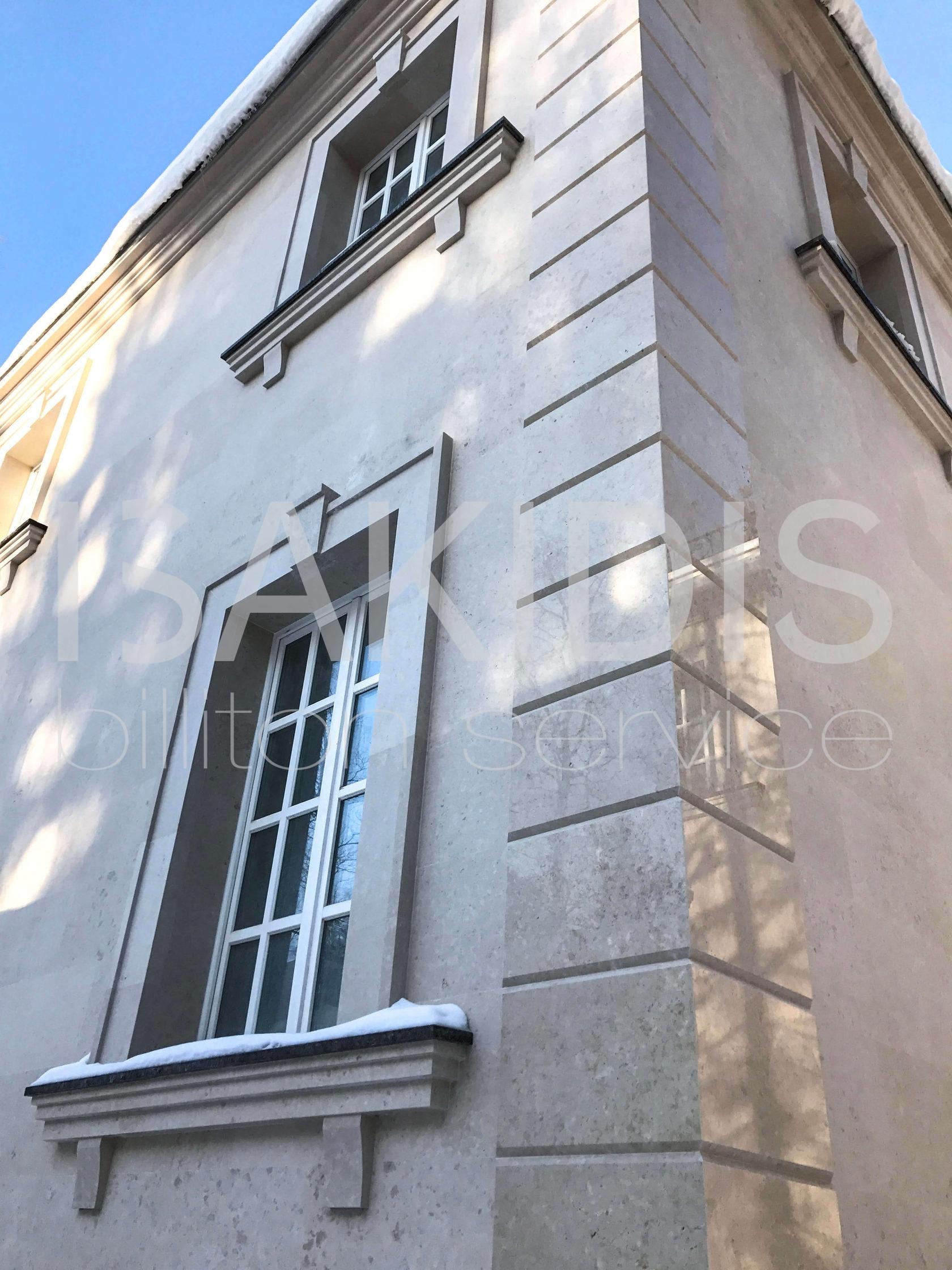 готовый фасад из камня