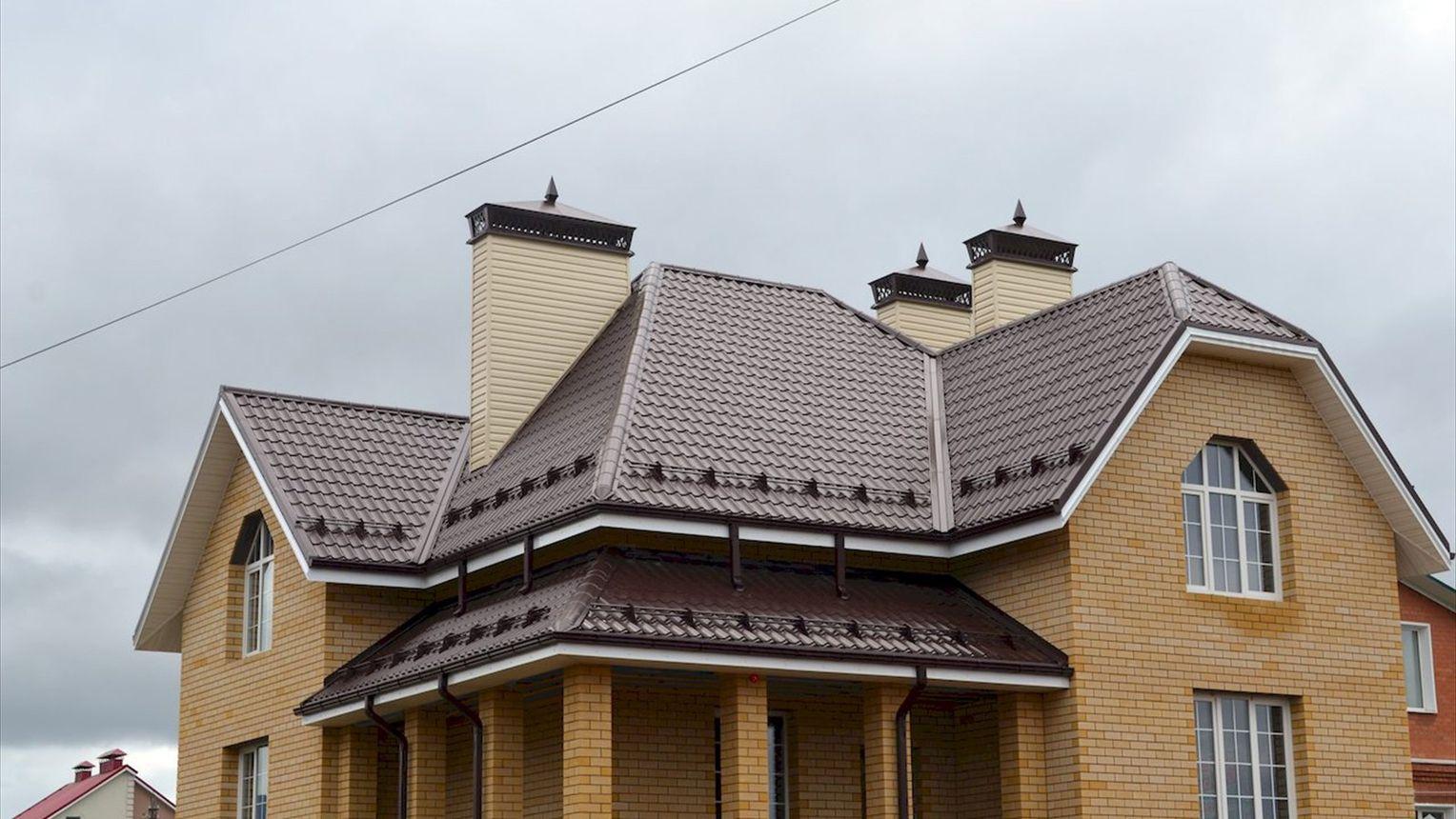 фанатів фото крыши домов из металлочерепицы монтеррей как