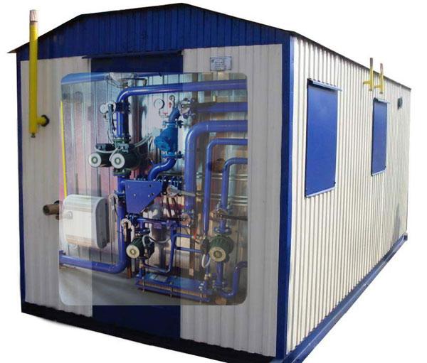 Комплектная автоматизированная водогрейная блочно-модульная котельная установка АБМКУ-П мощностью 8,