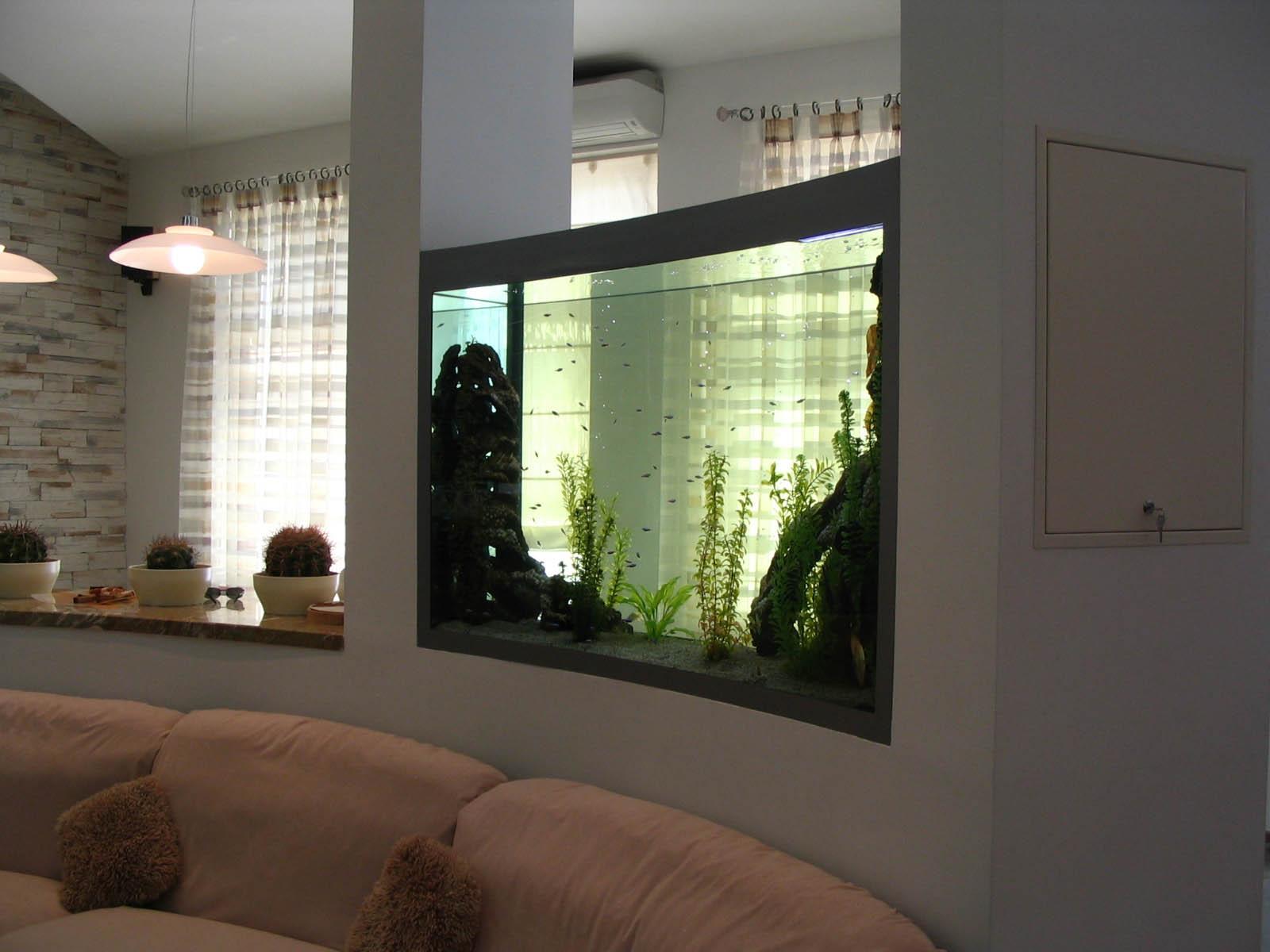 Дизайн квартиры с аквариумом
