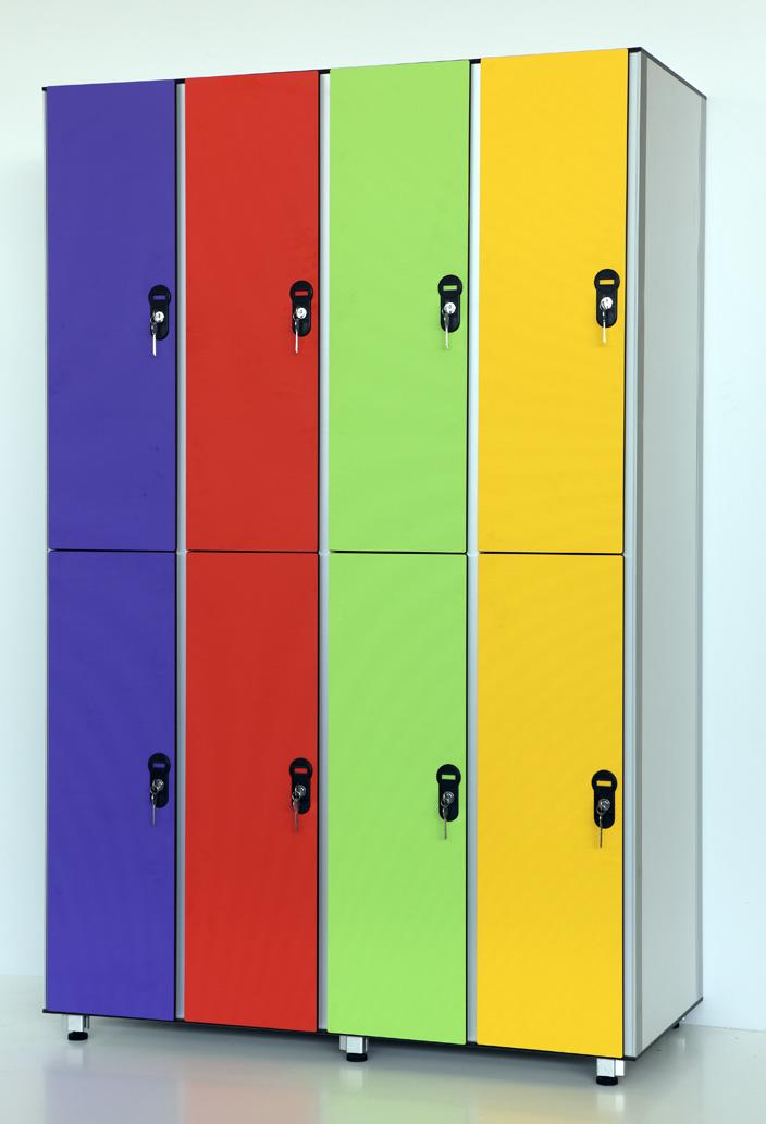 Секционная модульная спортивная мебель для раздевалок, шкафч.