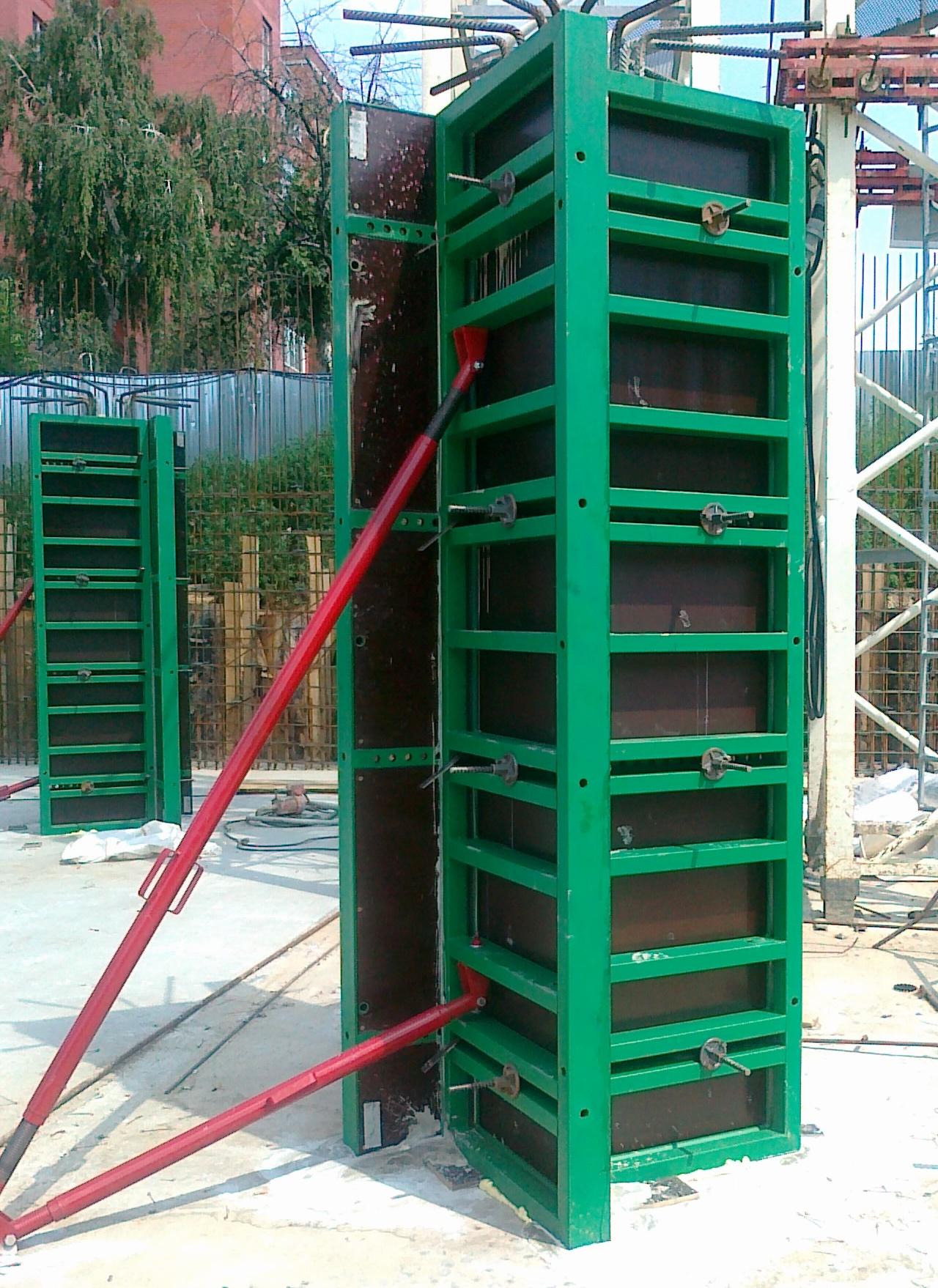 Аренда комплекта опалубки (монтируемой краном) колонн, стен, фундамента цена от 6000 бел руб, купить в минске