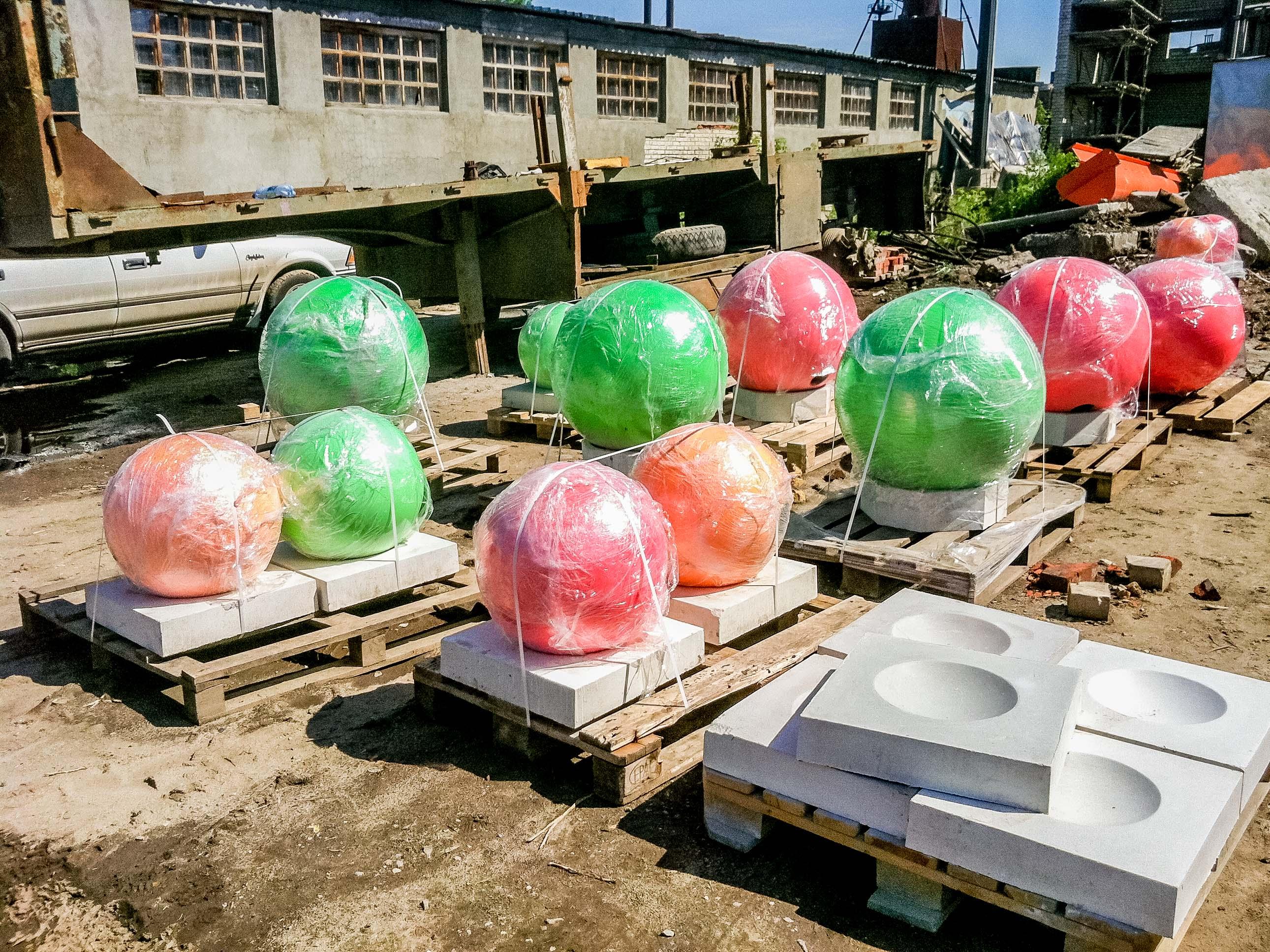 Как сделать большой шар из бетона своими руками 87
