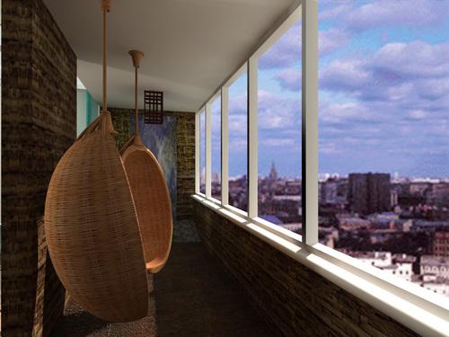 Роль балконов внутренних двориков и