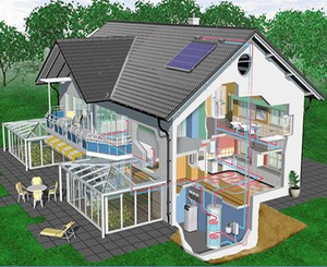 Рисунок 1: Схема отопления загородного дома.  Современный мир с его новейшими технологиями предлагают огромное.