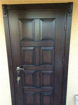 российские 2х створчатые железные двери