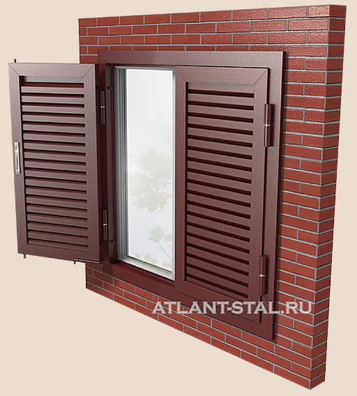 металлические ставни на окна внешние цена