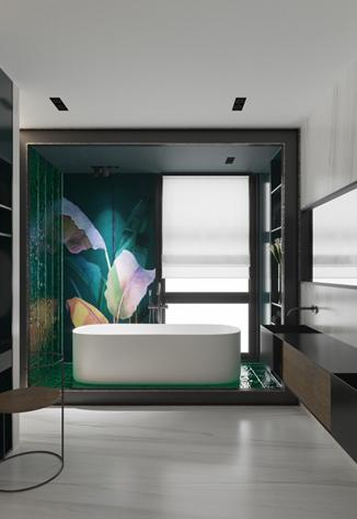 Обновленная ванная комната: камень снаружи и внутри