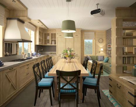 Большой семье большую кухню: уютный кантри-стиль с защитой ROCKWOOL