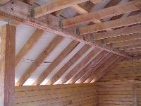 Что из себя представляет конструкция крыши деревянного дома?