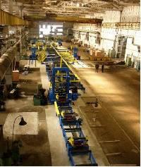 Автоматизированные линии для производства сварной двутавровой балки.