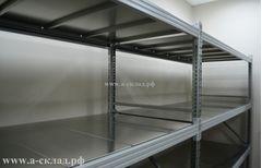 Cреднегрузовые полочные стеллажи металлические серии MS Pro