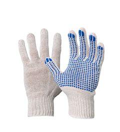 Перчатки рабочие 3-НИТКА БЕЛЫЕ | ПВХ ТОЧКА